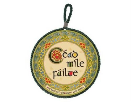 Céad Míle Fáilte Wall Plaque Pot Holder